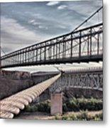 Swayback Suspension Bridge Metal Print