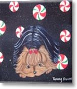 Sweet Treats For Yorkie Metal Print