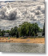 Swimmers Metal Print