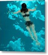 Swimming In The Sky Metal Print