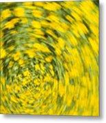 Swirling Flowers Metal Print