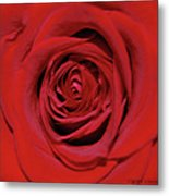 Swirling Red Silk Metal Print