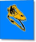 T-rex Graphic Metal Print by Pixel  Chimp