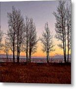 Tahoe Sunset Looking Southwest Metal Print