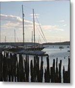 Tall Ship At Dock Metal Print