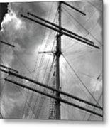 Tall Ship Masts Metal Print