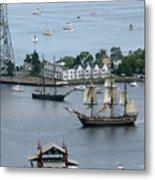 Tall Ships -hms Bounty Metal Print