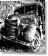 Tam Truck Black And White Metal Print