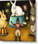 Taming Of The Giant Bunnies Metal Print
