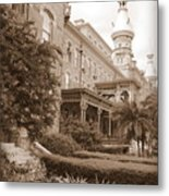 Tampa Gem In Sepia Metal Print