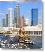 Tampa's Flag Ship Metal Print