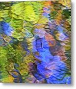 Tangerine Twist Mosaic Abstract Art Metal Print