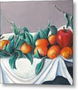 Tangerines And Apples Metal Print