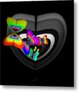 Target Heart Metal Print