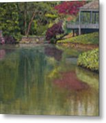Tea House Metal Print by Don Perino