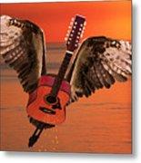 Teardrops On My Guitar Rocks Metal Print