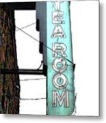 Tearoom Sign Metal Print