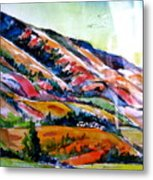 Technicolor Mountain In Utah Metal Print