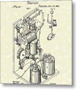 Telegraph 1869 Patent Art Metal Print by Prior Art Design