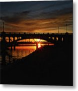 Tempe Bridge Sunset  Metal Print