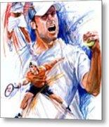 Tennis Snapshot Metal Print by Ken Meyer jr
