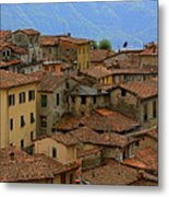 Terra-cotta Roofs Barga Vecchia Italy Metal Print