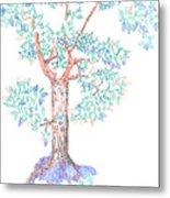 Tesselated Tree Metal Print