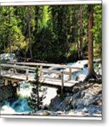 Teton Bridge Metal Print