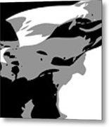 Texas Flag In The Wind Bw3 Metal Print by Scott Kelley