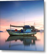 Thai Fishing Boat Metal Print