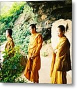 Thai Monks Metal Print