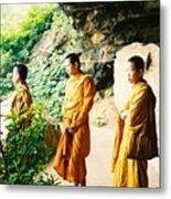 Thai Monks Metal Print