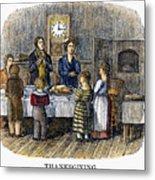 Thanksgiving, 1853 Metal Print