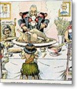 Thanksgiving Cartoon, 1898 Metal Print