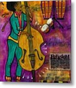 That Sistah On The Bass Metal Print