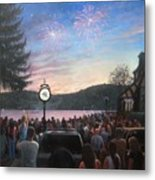 the 4th of July on Lake Mohawk Metal Print by Tim Maher