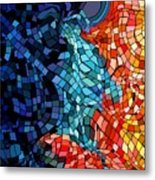 The Abstract Kiss Metal Print