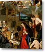 The Adoration Of The Shepherds Metal Print by Fray Juan Batista Maino or Mayno