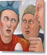 The Age Old Debate Metal Print by Paula Wittner