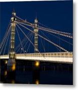 The Albert Bridge London Metal Print by David Pyatt