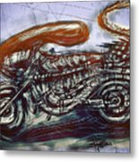 The Alien Bike Metal Print