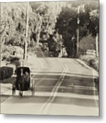 The Amish Buggy Metal Print