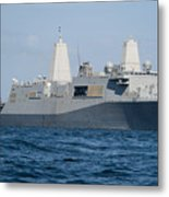 The Amphibious Transport Dock Ship Uss Metal Print