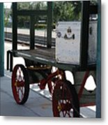 The Baggage Cart And Truck Metal Print