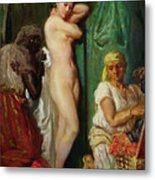 The Bath In The Harem Metal Print by Theodore Chasseriau