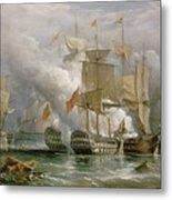 The Battle Of Cape St Vincent Metal Print by Richard Bridges Beechey