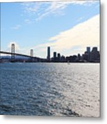 The Bay Bridge And The San Francisco Skyline Viewed From Treasure Island . 7d7771 Metal Print