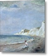 The Beach At Varangeville Metal Print by Renoir