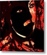 The Black Mask Metal Print