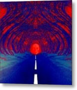 The Blue Avenue Metal Print
